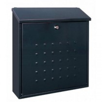 Large Top Loading A4 Steel Post Box Pro First 340 Black