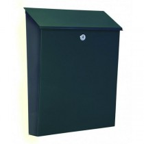 Large Capacity Black A4 Steel Letterbox Pro First 640 Post Box