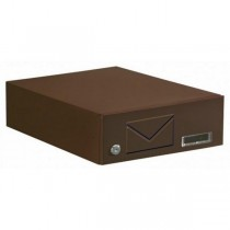 Wall / Door Mounted Apartment Brown Steel Post Box Pro First 590 Mailbox