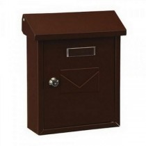 Small Stylish Top Loading Brown Post Box Pro First 240 Mailbox