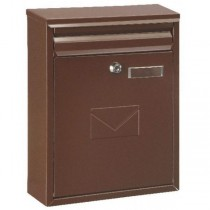 Dual Access Brown Steel Post Box Front Door Use Pro First 250