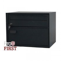 Extra Large Swiss Style Black Letterbox Pro First 180