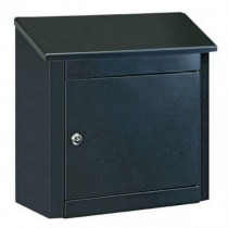 Large Black Steel Post Box Pro First 410 Mailbox