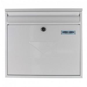 Dual Access Large White Rear Slot Post Box Pro First 460 Key Lock