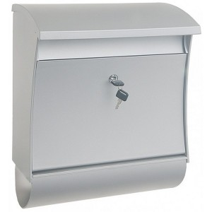 Extra Large Silver Plastic Post Box Pro First 670 Mailbox