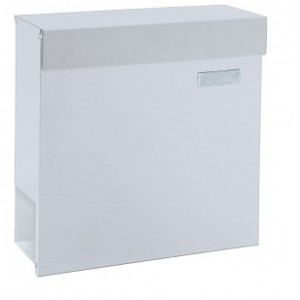 Large Capacity White Newspaper Holder Post Box Pro First 680 Mailbox