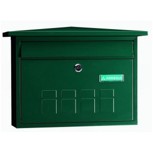 Green Decorative Steel Wall Mounted A4 Post Box Deco