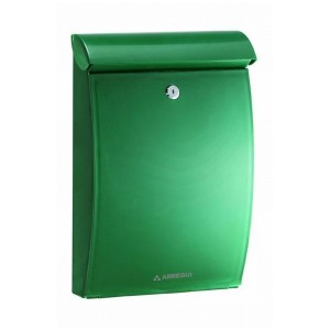 Plastic Green Post Box A4 Outdoor Wall Mounted Mininova E-5333