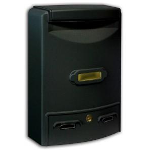 Stylish Aluminium Black Painted Outdoor Mailbox Maxi