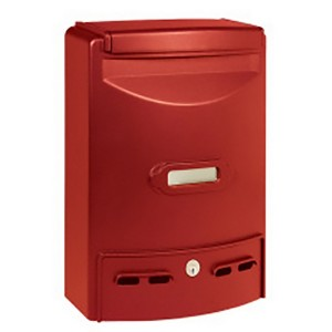 Stylish Aluminium Red Painted Outdoor Mailbox Maxi