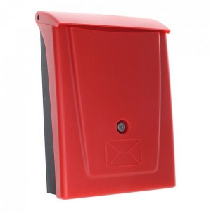 Plastic Red High Quality Mailbox A4 Wall Mounted Postal Rottner