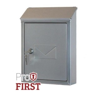 Classic Designer Silver Key Lock Post Box Pro First 400 Small Mailbox