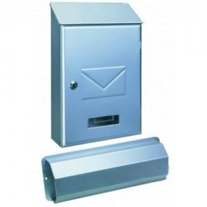 Top Loading Silver Post Box Pro First 441 Newspaper Holder