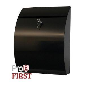 Modern Steel A4 Black Post Box Pro First 210 Letterbox