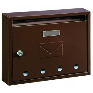 Classic Steel Brown Post Box Pro First 100 Mailbox